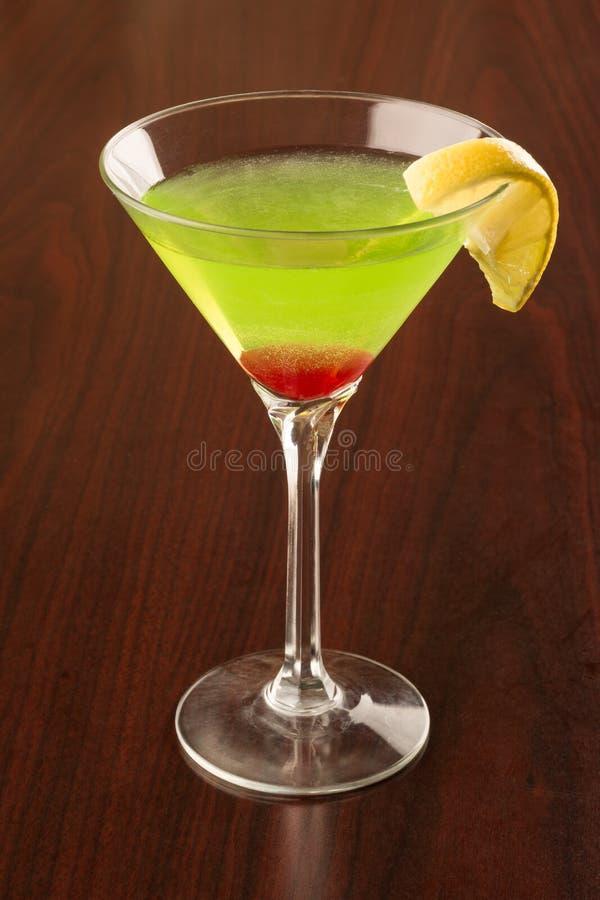Grüner Apple Martini lizenzfreie stockfotos