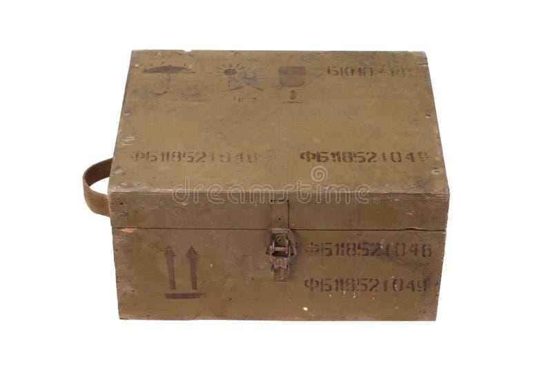 Grüner Armeekasten Munition lizenzfreies stockbild