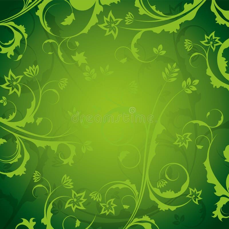 Grüner aufwändiger Blumenhintergrund vektor abbildung