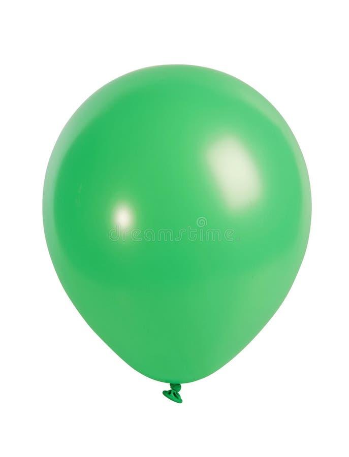 Grüner Ballon getrennt auf Weiß stockfotos