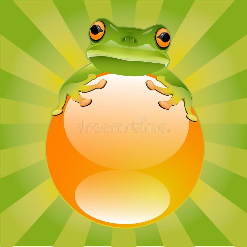 Grüner Baum-Frosch lizenzfreie abbildung