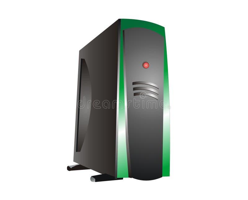 Grüner Bewirtungs-Server vektor abbildung