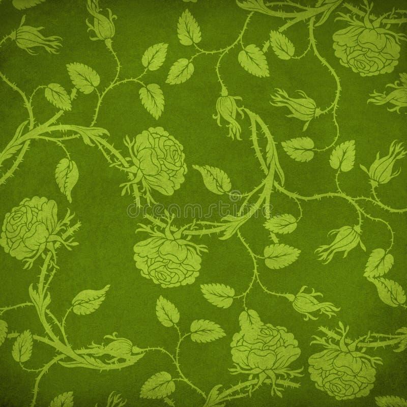 Grüner Blumenhintergrund vektor abbildung
