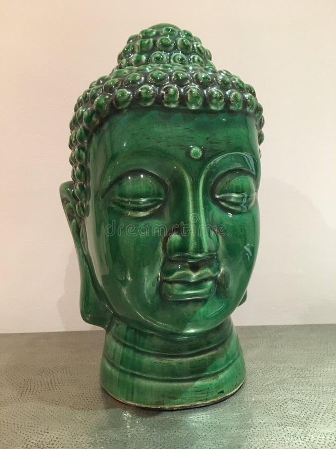 Grüner Buddha lizenzfreie stockfotografie