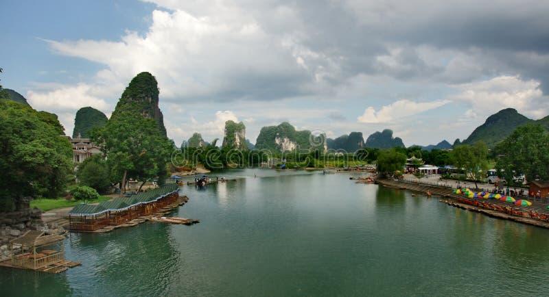 Grüner China-Fluss stockfotos