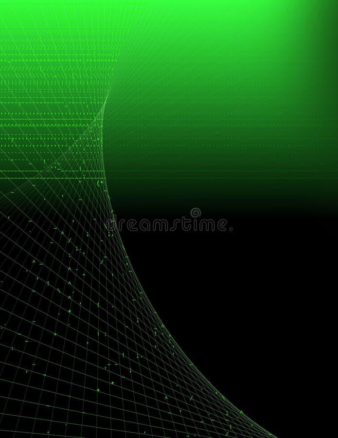 Grüner Computer-Hintergrund lizenzfreie abbildung