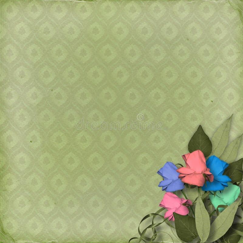 Grüner dekorativer Hintergrund vektor abbildung