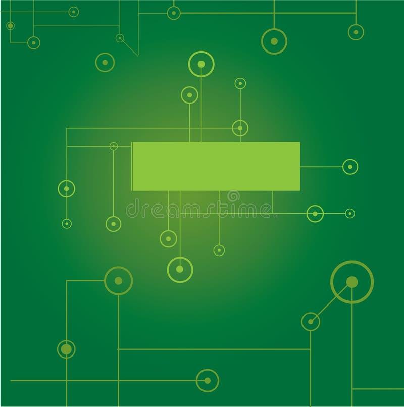 Grüner digitaler Hintergrund vektor abbildung