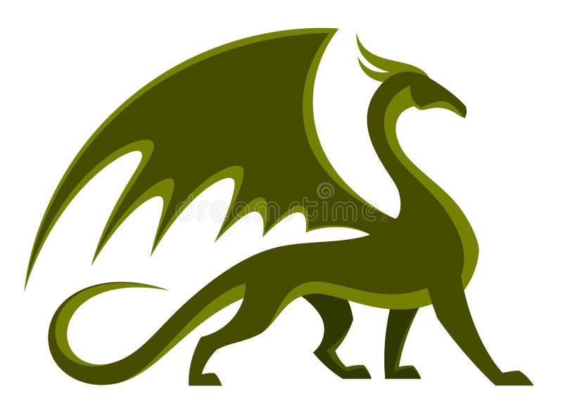 Grüner Drache stock abbildung