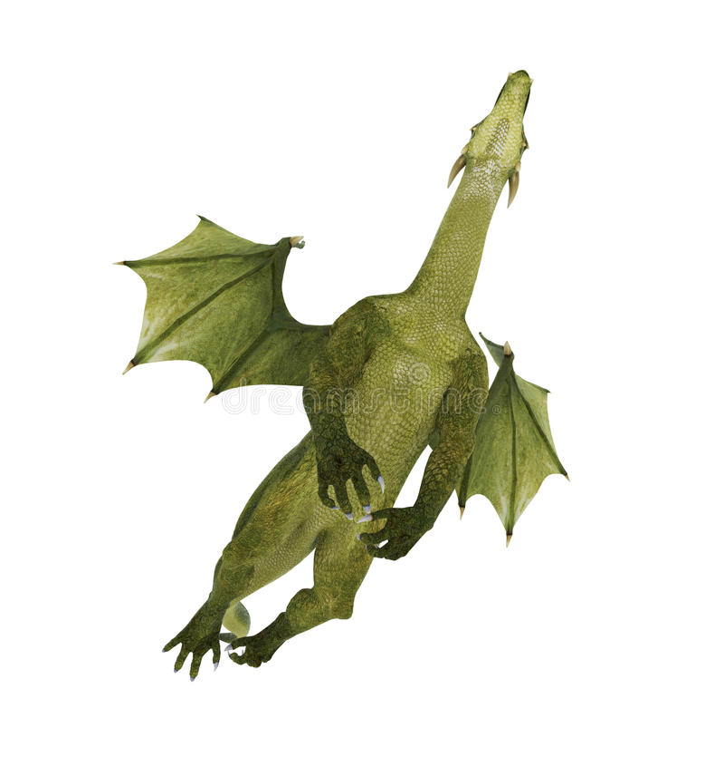 Grüner Drache oben und überhaupt stock abbildung
