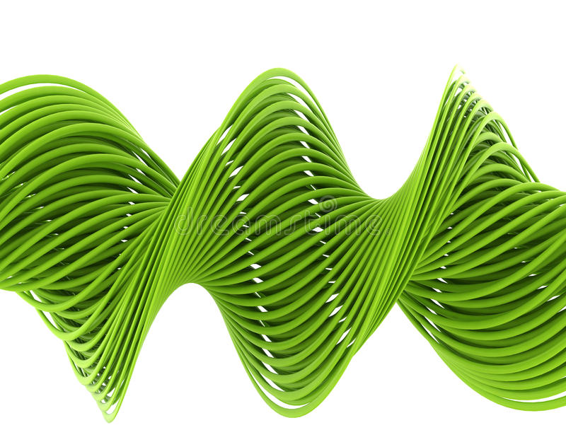 Grüner Draht stock abbildung. Illustration von kunst - 35178285