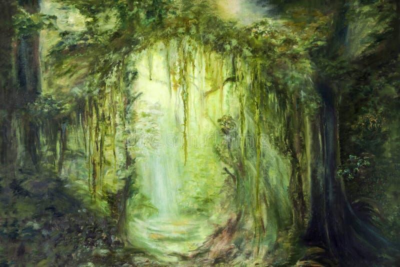 Grüner Dschungel lizenzfreie abbildung