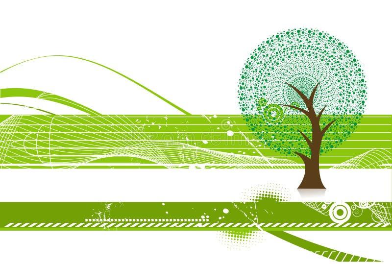 Grüner eco Baum lizenzfreie abbildung