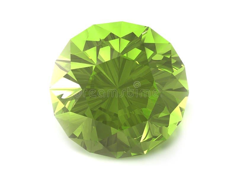 Grüner Edelstein lizenzfreie abbildung