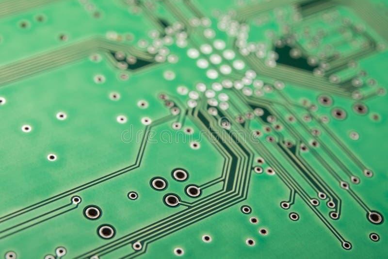 Grüner elektronischer Bretthintergrund Computersystem stock abbildung
