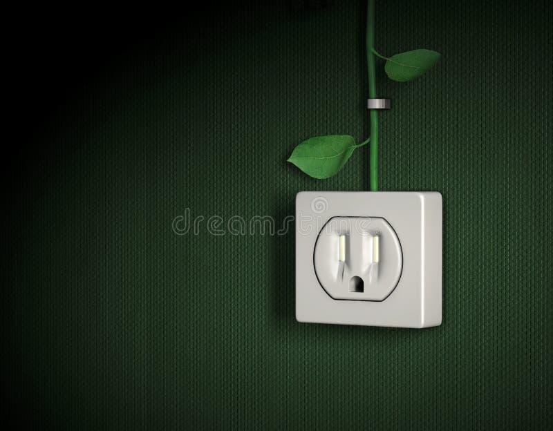 Grüner Energieleistunganschluß vektor abbildung