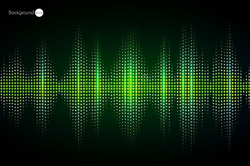 Grüner Entzerrer Digital Auch im corel abgehobenen Betrag vektor abbildung