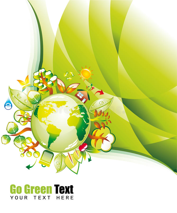 Grüner Environmen Hintergrund lizenzfreie abbildung