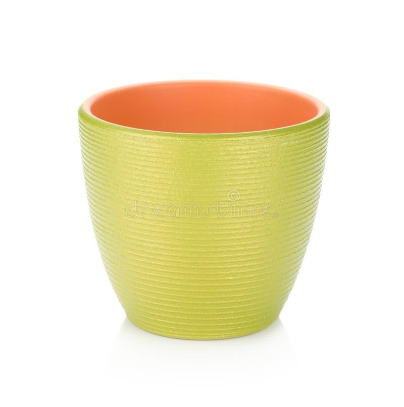 Grüner Flowerpot lizenzfreie stockfotografie