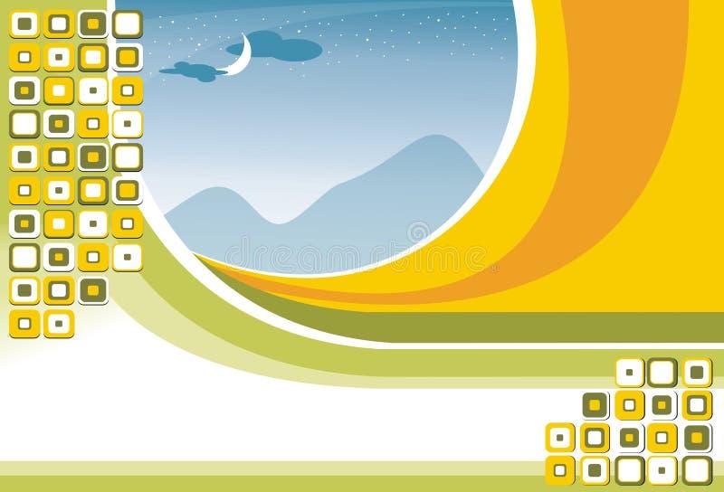 Grüner Flugblatt-Hintergrund lizenzfreie stockfotos