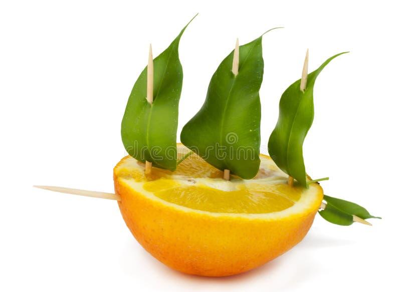 Grüner Frieden von der Orange stockbilder
