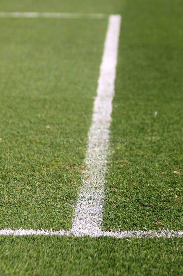 Grüner Fußball-Fußballplatz stockfotografie