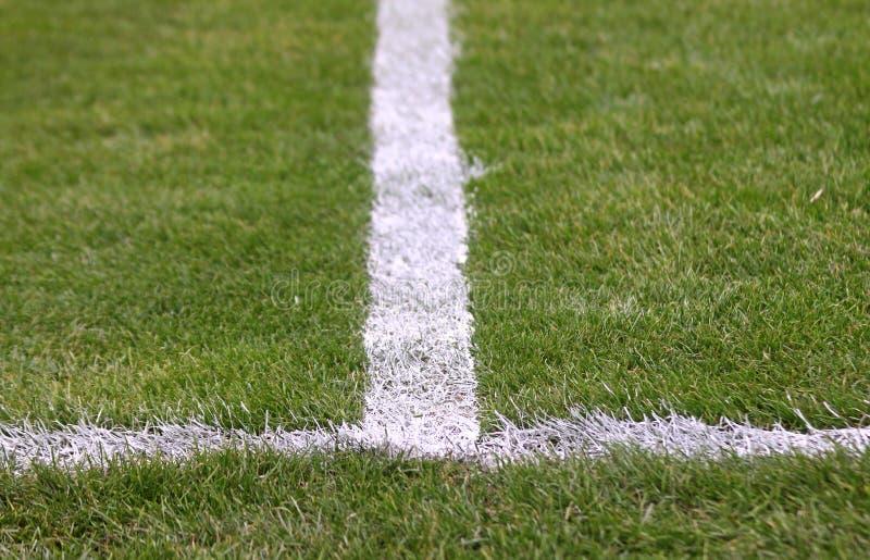 Grüner Fußballplatz lizenzfreies stockfoto