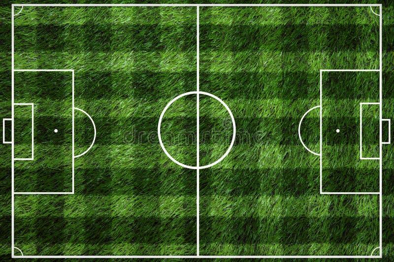 Grüner Fußballplatz mit weißem Streifen lizenzfreies stockfoto