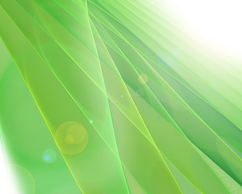 Grüner futuristischer Fractalhintergrund stock abbildung