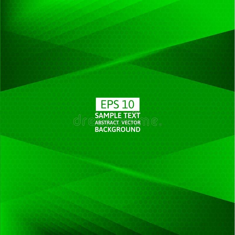 Grüner geometrischer abstrakter Vektorhintergrund mit Kopienraum stock abbildung