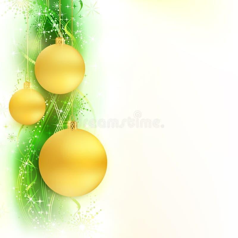 Grüner goldener wellenförmiger Rand mit Flitter stock abbildung