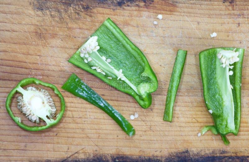 Grüner Grüner Pfeffer stockbilder