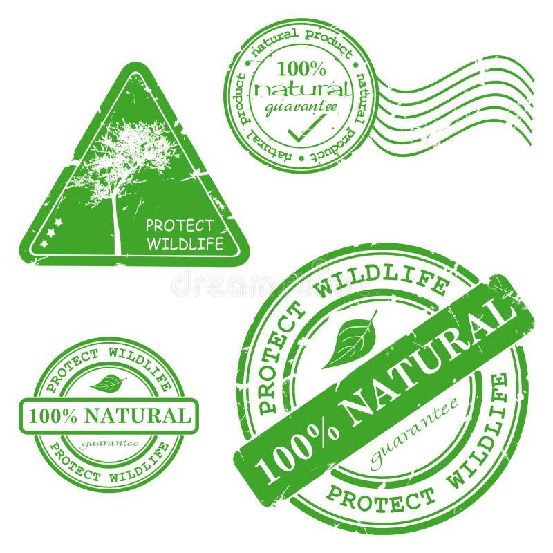 Grüner grunge Stempel mit dem Text stock abbildung