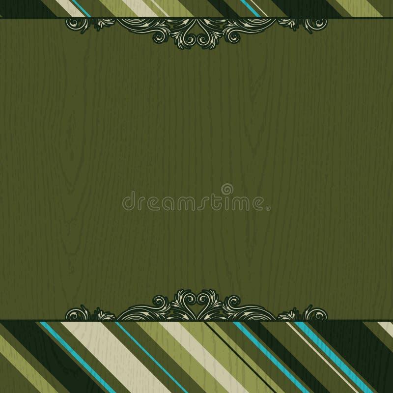 Grüner hölzerner Hintergrund vektor abbildung