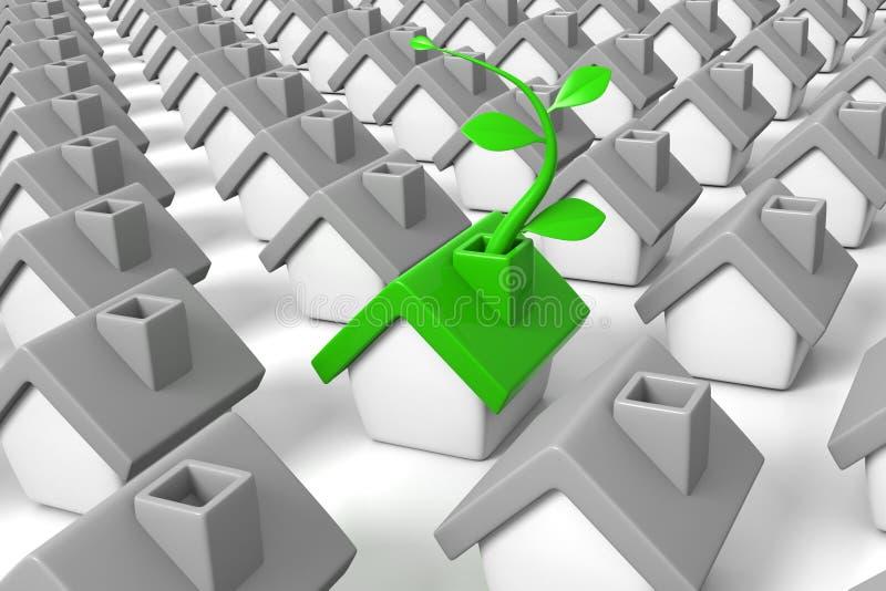 Grüner Haushalt stock abbildung