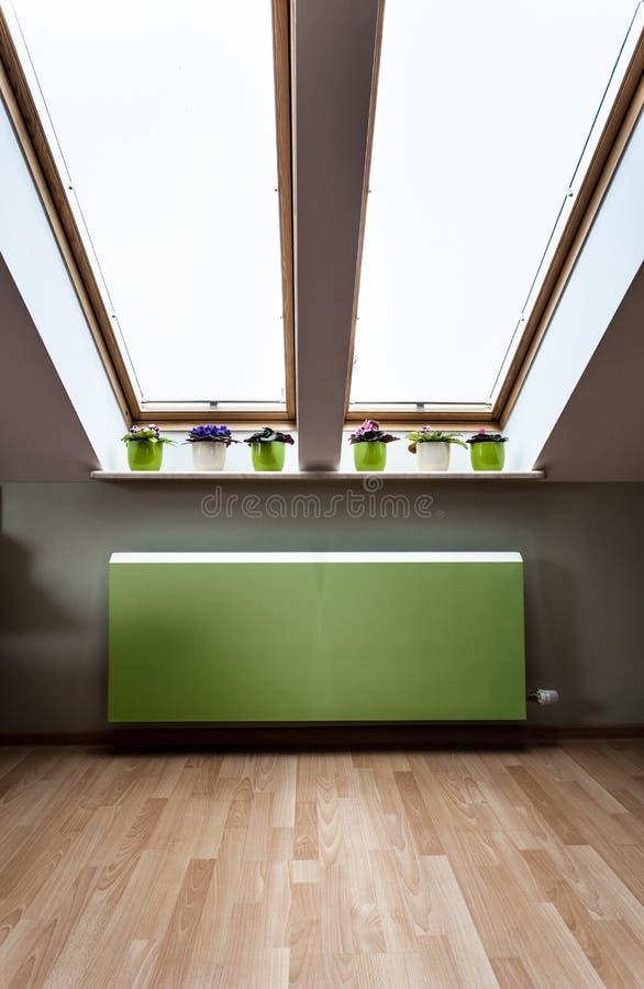 Heizkörper Zum Sitzen grüner heizkörper im dachboden stockbild bild dachboden grün