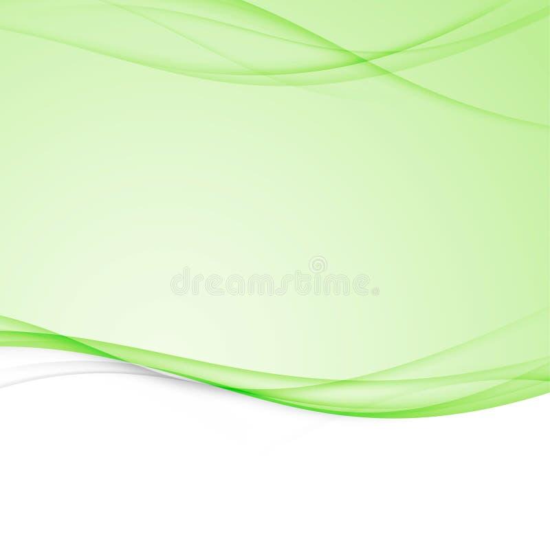 Grüner heller abstrakter moderner Swooshwellen-Grenzplan Elegant vektor abbildung