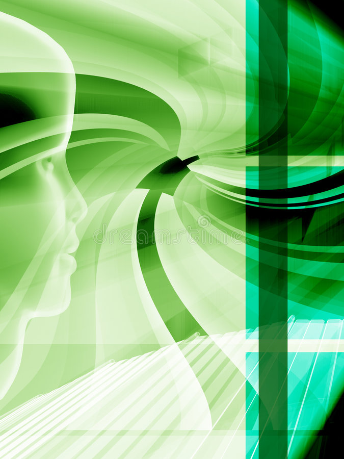 Grüner Hightech- Plan lizenzfreie abbildung