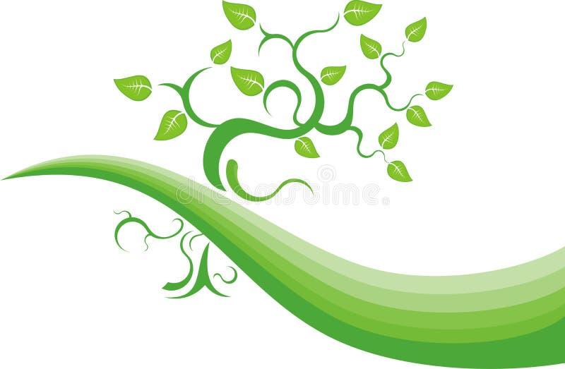 Grüner Hintergrund stock abbildung