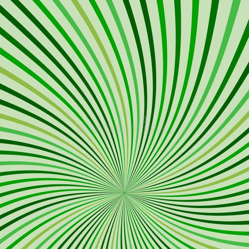 Grüner Hintergrund der abstrakten Retro- Strahlen lizenzfreie abbildung