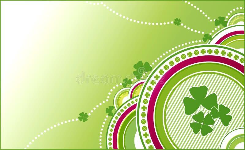 Grüner Hintergrund des Klees lizenzfreie abbildung