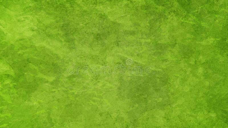 Grüner Hintergrund in limigrün-farbenem Vintage-Design mit gestörtem, verblassenem Grunge stockfoto