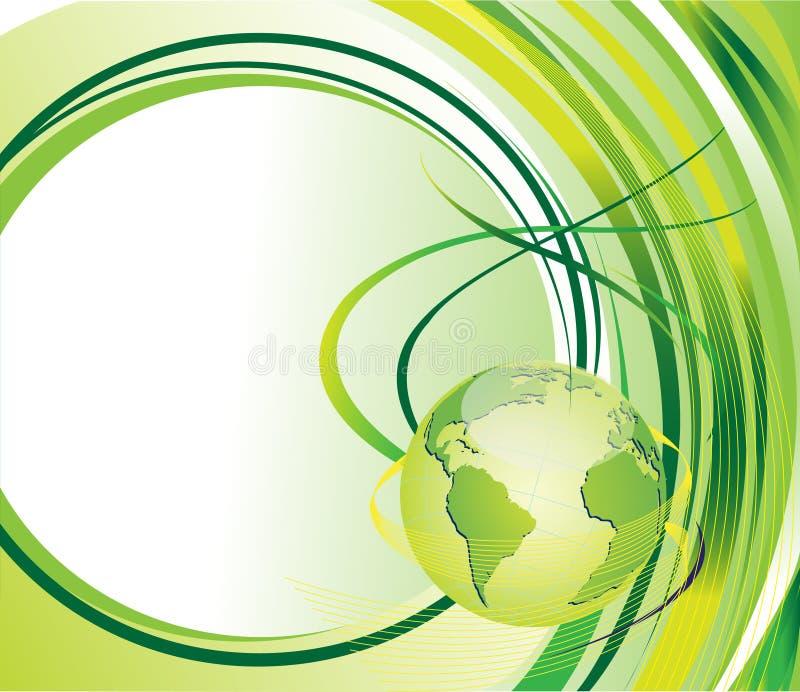 Grüner Hintergrund mit Kugel lizenzfreie abbildung