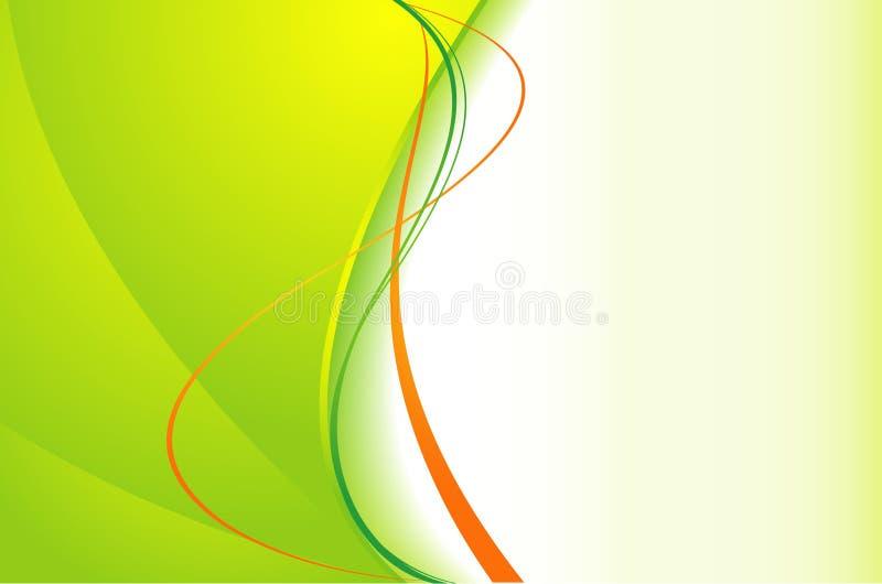 Grüner Hintergrund mit Wellen vektor abbildung