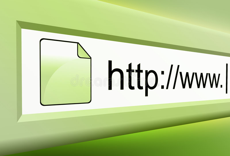 Grüner Internet URL-Text vektor abbildung