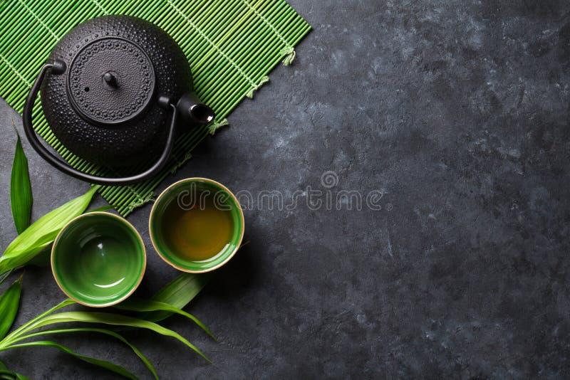 Grüner japanischer Tee stockfotografie