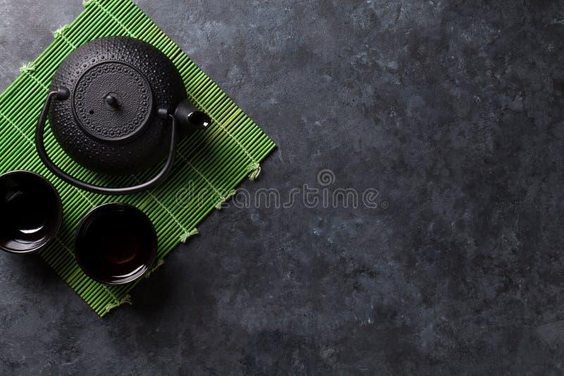 Grüner japanischer Tee lizenzfreies stockfoto
