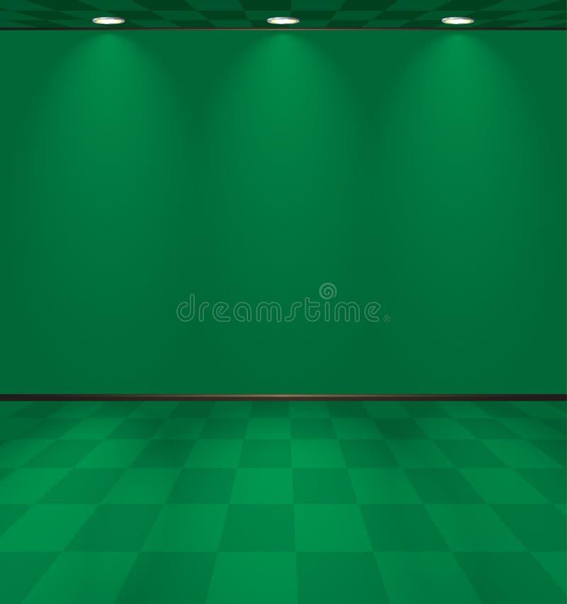 Grüner Kasinoraum stock abbildung