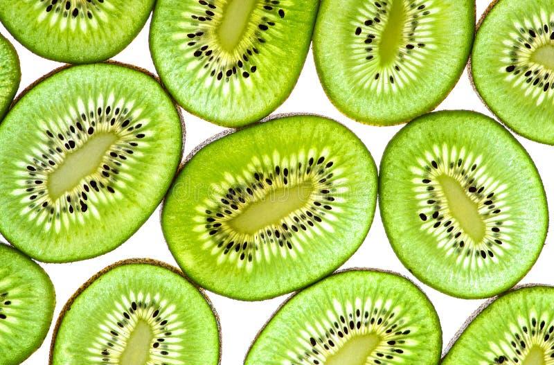 Grüner Kiwi Fruit Sliced. stockfotografie