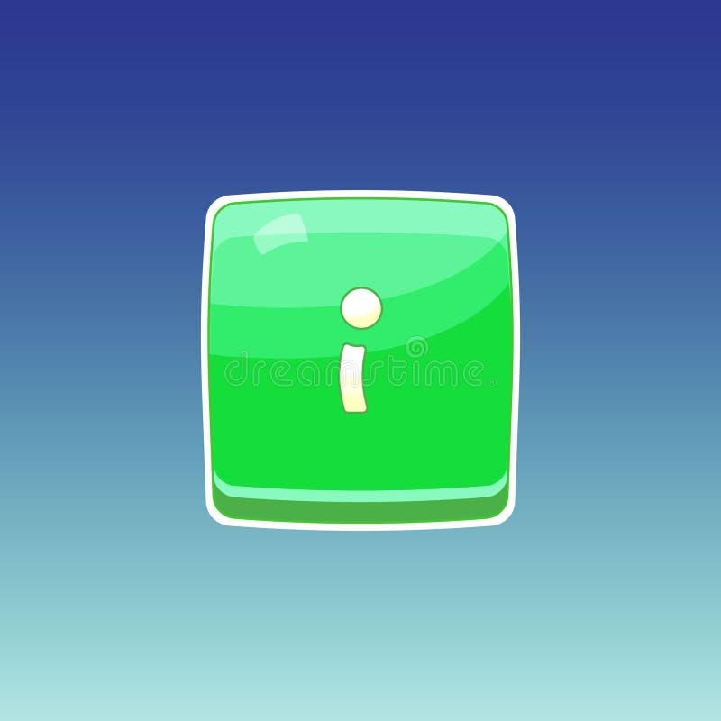 Grüner Knopf des Spiels stock abbildung
